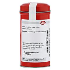 SPEKULATIUSGEWÜRZ Caelo HV-Packung Blechdose 50 Gramm - Rückseite