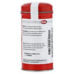 PFEFFERKUCHENGEWÜRZ Caelo HV-Packung Blechdose 50 Gramm - Rückseite