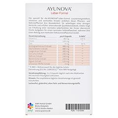 AYUNOVA Leber-Formel Kapseln 60 Stück - Rückseite