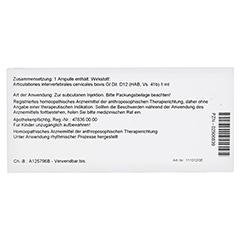ARTICULATIONES intervertebral.cerv.GL D 12 Amp. 10x1 Milliliter N1 - Rückseite