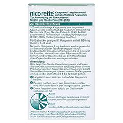 Nicorette 2mg freshmint 105 Stück - Rückseite
