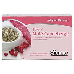 SIDROGA Wellness Mate-Cranberry Tee Doppelkammerb. 20x2.0 Gramm - Rückseite