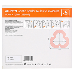 ALLEVYN Gentle Border Multisite 17,1x17,9 cm SV sk 5 Stück - Rückseite