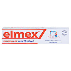 ELMEX mentholfrei Zahnpasta 75 Milliliter - Vorderseite
