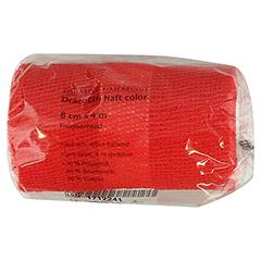 DRACOELFI haft color Fixierbinde 8 cmx4 m rot 1 Stück
