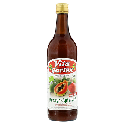 VITAGARTEN Bio Papaya-Apfelsaft Direktsaft 750 Milliliter
