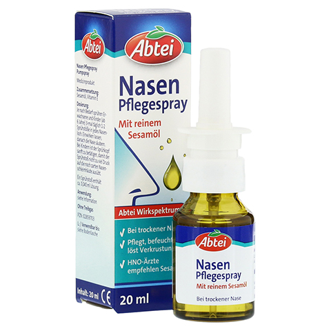 Abtei Nasenpflegeöl Nasenspray 20 Milliliter
