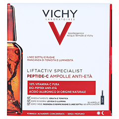 VICHY LIFTACTIV Specialist Peptide-C Anti-Age Amp. + gratis Vichy Liftactiv Specialist Anti-Aging Ampulle Probe 30x1.8 Milliliter - Rückseite