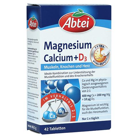 Abtei Magnesium Calcium + D3 Depot Tabletten 42 Stück