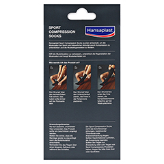 HANSAPLAST Sport Compression Socks Gr.L 2 Stück - Rückseite
