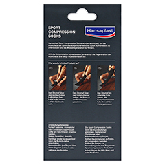 HANSAPLAST Sport Compression Socks Gr.M 2 Stück - Rückseite