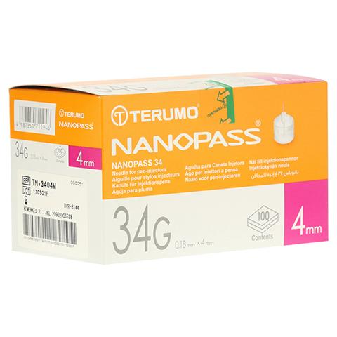 TERUMO NANOPASS 34 Pen Kanüle 34 G 0,18x4 mm 100 Stück