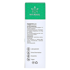 VITADOL Complex 10% CBD Mundöl 10 Milliliter - Rückseite