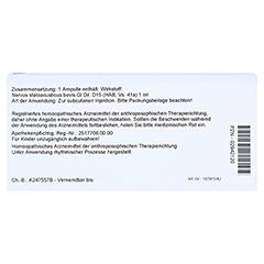 NERVUS STATOACUSTICUS GL D 15 Ampullen 10x1 Milliliter N1 - Rückseite