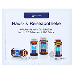 Biochemie Orthim Reiseapotheke 1-12 12x100 Tabl. 1 Packung - Vorderseite