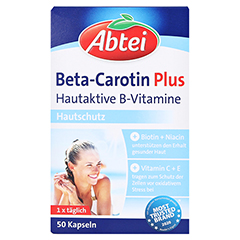 Abtei Beta-Carotin Plus Hautaktive B-Vitamine 50 Stück - Vorderseite