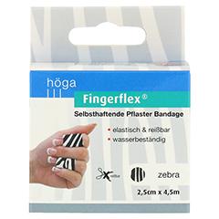 FINGERFLEX 2,5 cmx4,5 m Zebra 1 Stück - Vorderseite