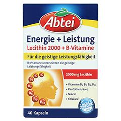 Abtei Energie + Leistung Lecithin 2.000 + B-Vitamine Kapseln 40 Stück - Vorderseite