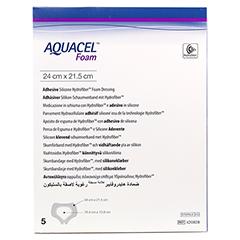 AQUACEL Foam adhäsiv Sakral 21,5x24 cm Verband 5 Stück - Vorderseite