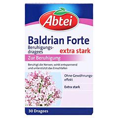 ABTEI Baldrian Forte (Beruhigungsdragees) 30 Stück - Vorderseite