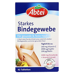 ABTEI Starkes Bindegewebe (Plus Kieselerde & Ananas-Extrakt) 42 Stück - Vorderseite