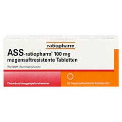 ASS-ratiopharm 100mg 50 Stück N2 - Vorderseite