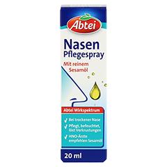 Abtei Nasenpflegeöl Nasenspray 20 Milliliter - Vorderseite