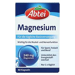 Abtei Magnesium Kapseln 40 Stück - Vorderseite