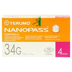 TERUMO NANOPASS 34 Pen Kanüle 34 G 0,18x4 mm 100 Stück - Vorderseite
