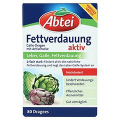 ABTEI Fettverdauung Aktiv (Galle-Dragee mit Artischocke) 80 Stück - Vorderseite