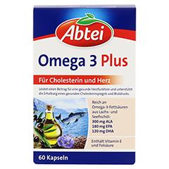 Abtei Omega-3-6-9 Lachsöl + Leinöl + Olivenöl 60 Stück - Vorderseite