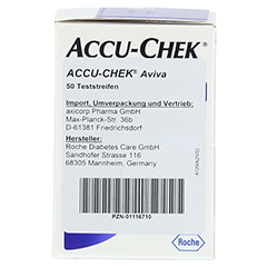 ACCU CHEK Aviva Teststreifen Plasma II 1x50 Stück - Linke Seite