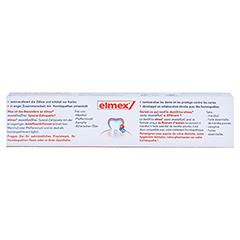 ELMEX mentholfrei Zahnpasta 75 Milliliter - Rückseite