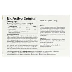BIOACTIVE Uniqinol 30 mg QH Pharma Nord Kapseln 30 Stück - Rückseite