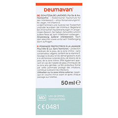 DEUMAVAN Schutzsalbe Lavendel Tube 50 Milliliter - Rückseite