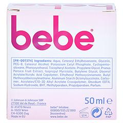 BEBE Young Care Feuchtigkeitscreme 50 Milliliter - Rückseite