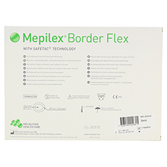 MEPILEX Border Flex Schaumverb.haftend 15x19 cm 5 Stück - Rückseite
