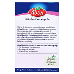 ABTEI Baldrian Forte (Beruhigungsdragees) 30 Stück - Rückseite