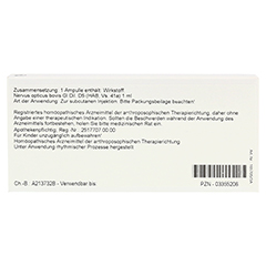NERVUS OPTICUS GL D 5 Ampullen 10x1 Milliliter N1 - Rückseite