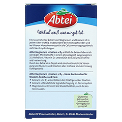 Abtei Magnesium Calcium + D3 Depot Tabletten 42 Stück - Rückseite