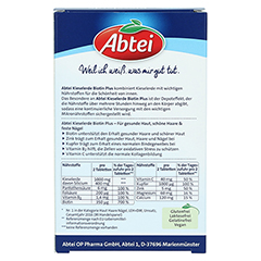 Abtei Kieselerde Plus Biotin Depot Tabletten 56 Stück - Rückseite