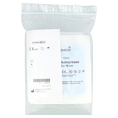SAUGKOMPRESSEN steril 10x10 cm 5x1 Stück - Rückseite