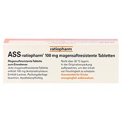 ASS-ratiopharm 100mg 50 Stück N2 - Oberseite