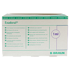 EXADORAL B.Braun orale Spritze 1 ml 100 Stück - Rückseite