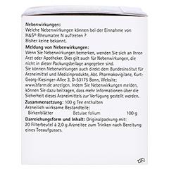 H&S Rheumatee N 20x2.0 Gramm - Linke Seite