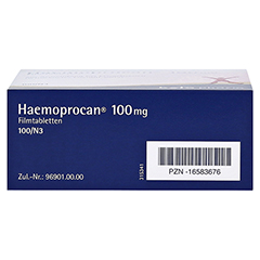 Haemoprocan 100mg 100 Stück N3 - Unterseite