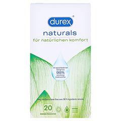 DUREX naturals Kondome mit Gleitgel wasserbasiert 2x10 Stück - Vorderseite