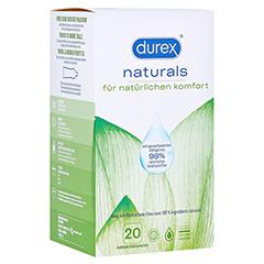 DUREX naturals Kondome mit Gleitgel wasserbasiert 2x10 Stück