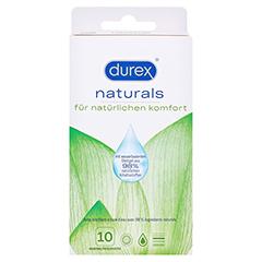 DUREX naturals Kondome mit Gleitgel wasserbasiert 10 Stück - Vorderseite