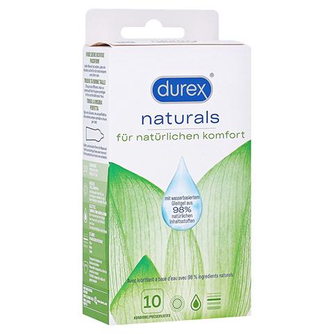 DUREX naturals Kondome mit Gleitgel wasserbasiert 10 Stück